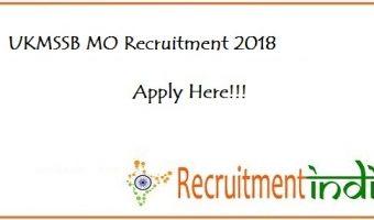 UKMSSB MO Recruitment