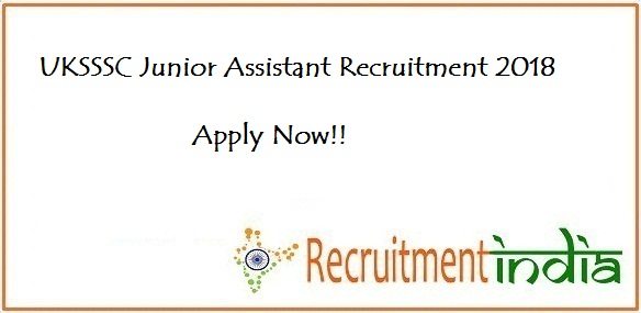 UKSSSC Junior Assistant/Personal Assistant