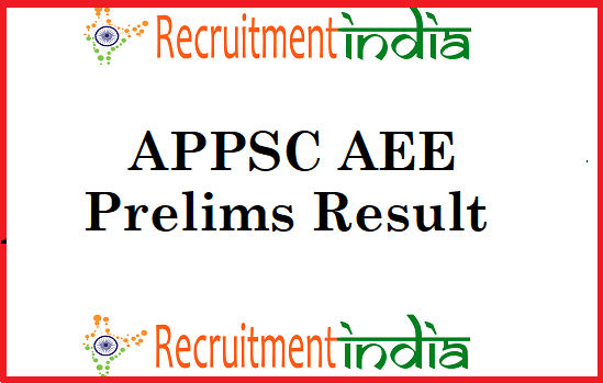 APPSC AEE Prelims Results