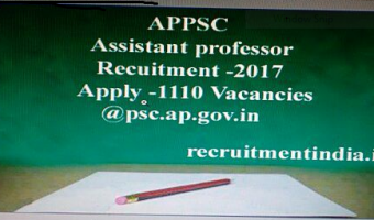 APPSC Assistant Professor Recruitment 2018 | Apply 1110 Vacancies @psc.ap.gov.in