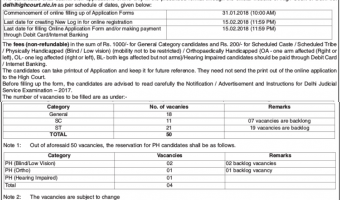 Delhi High Court Tis Hazari Recruitment 2018 | Apply Online – 99 Delhi Judicial Service Vacancy