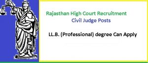 Rajasthan High Court Civil Judge Recruitment
