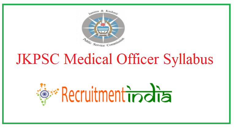 JKPSC Medical Officer Syllabus