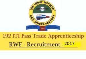 RWF Apprentice Recruitment