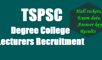 TSPSC Lecturer Recruitment 2017 – Apply 3,262 Degree & Polytechnic Notification Out