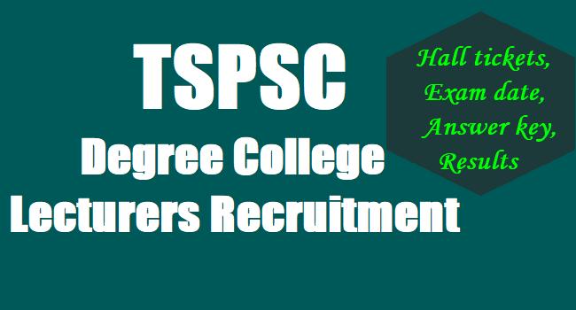 TSPSC Lecturer Recruitment