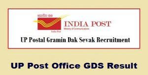 Uttar Pradesh Postal Circle GDS Results 2017