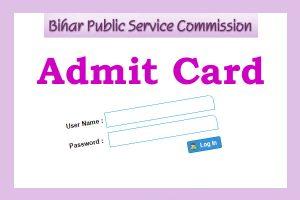Bihar PSC Assistant Engineer Admit Card 2017