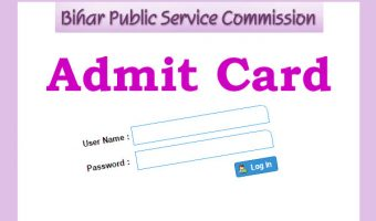 Bihar PSC Assistant Engineer Admit Card 2017 | Download Bihar AE Exam Hall Ticket