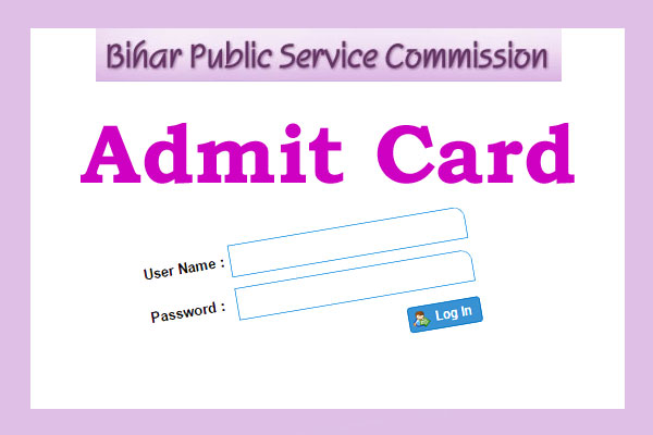 BPSC CCE Admit Card