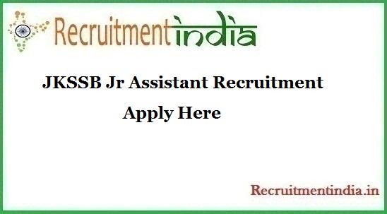 JKSSB Jr Assistant Recruitment