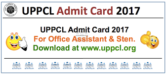 UPPCL Office Assistant Admit Card 2017 | Check Stenographer Grade Exam Dates