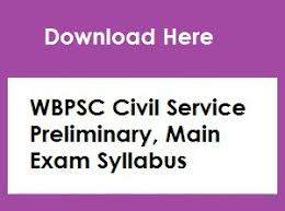 WBPSC Civil Service Exam Syllabus