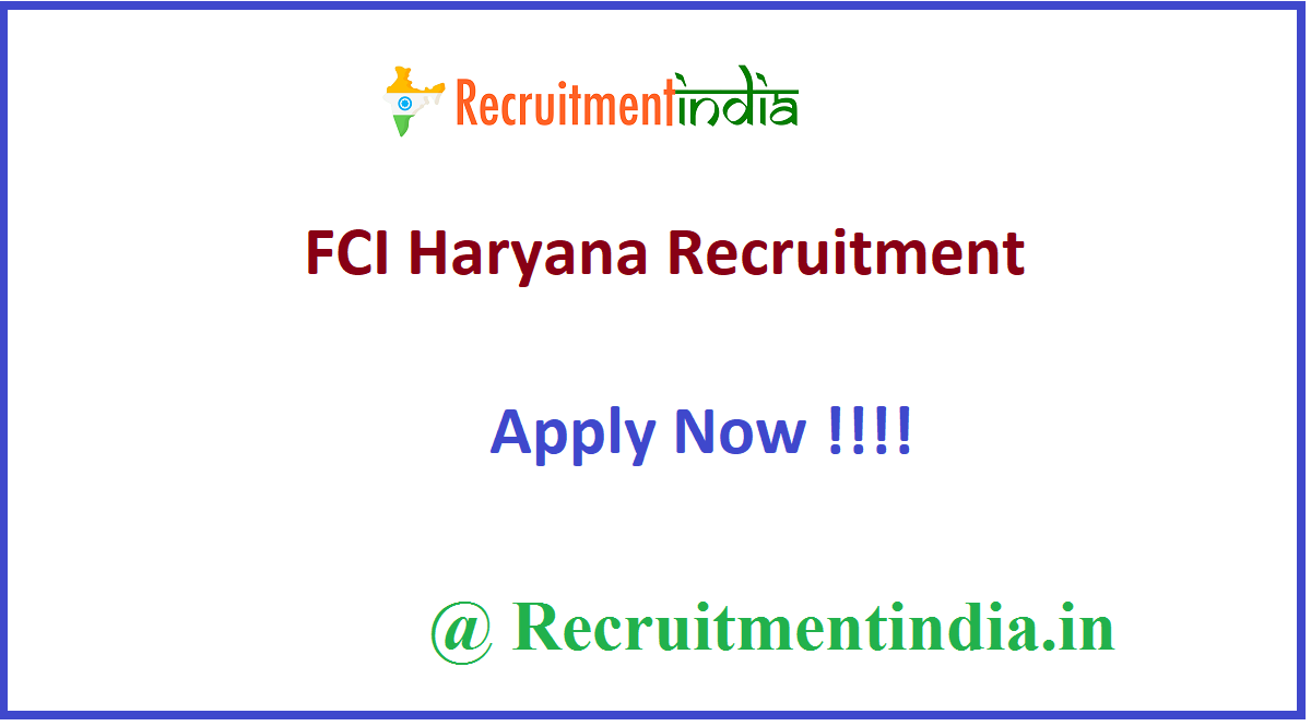 FCI Haryana Recruitment