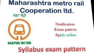 Maha- Metro JE Syllabus