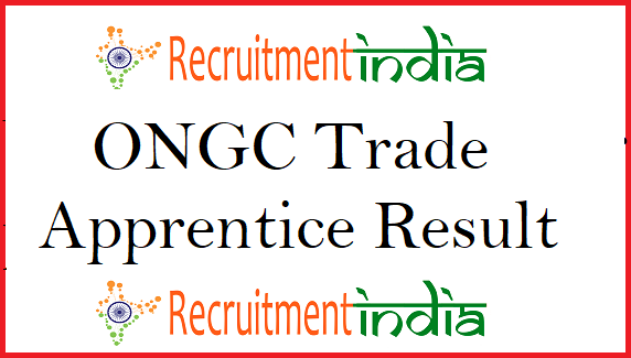 ONGC Trade Apprentice Result