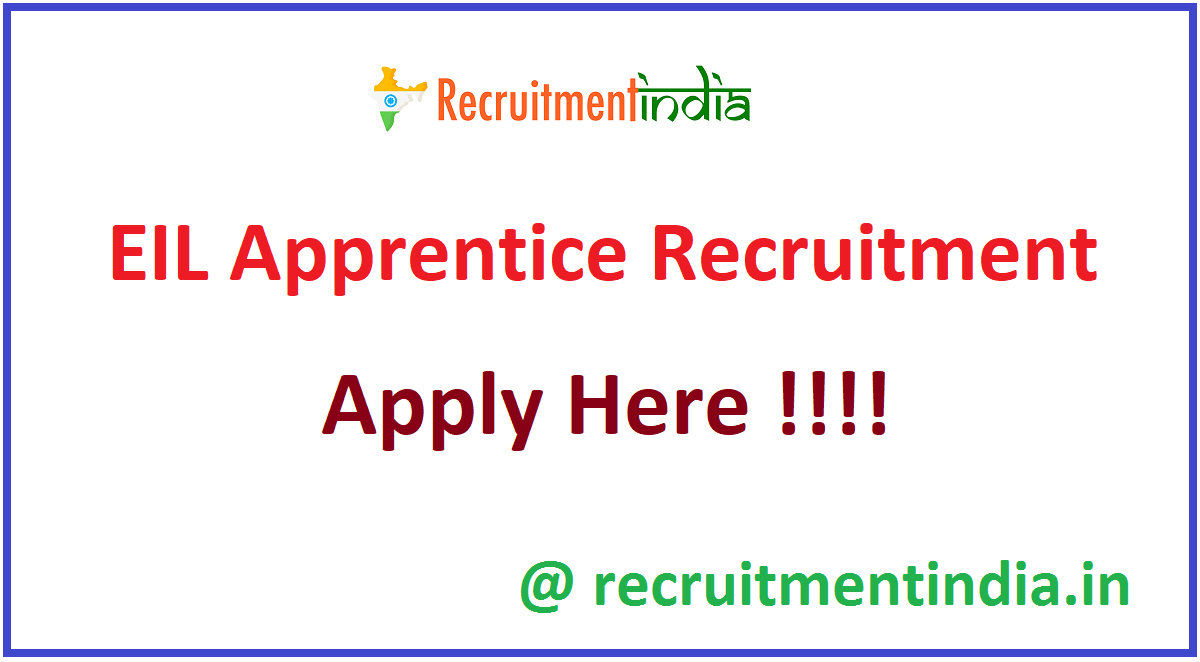 EIL Apprentice Recruitment