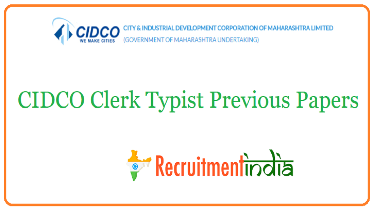 CIDCO Clerk Typist Previous Papers