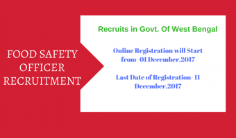 WBHRB Food Safety Officer Recruitment 2017-18 | Apply 179 Food Safety Officer Vacancies