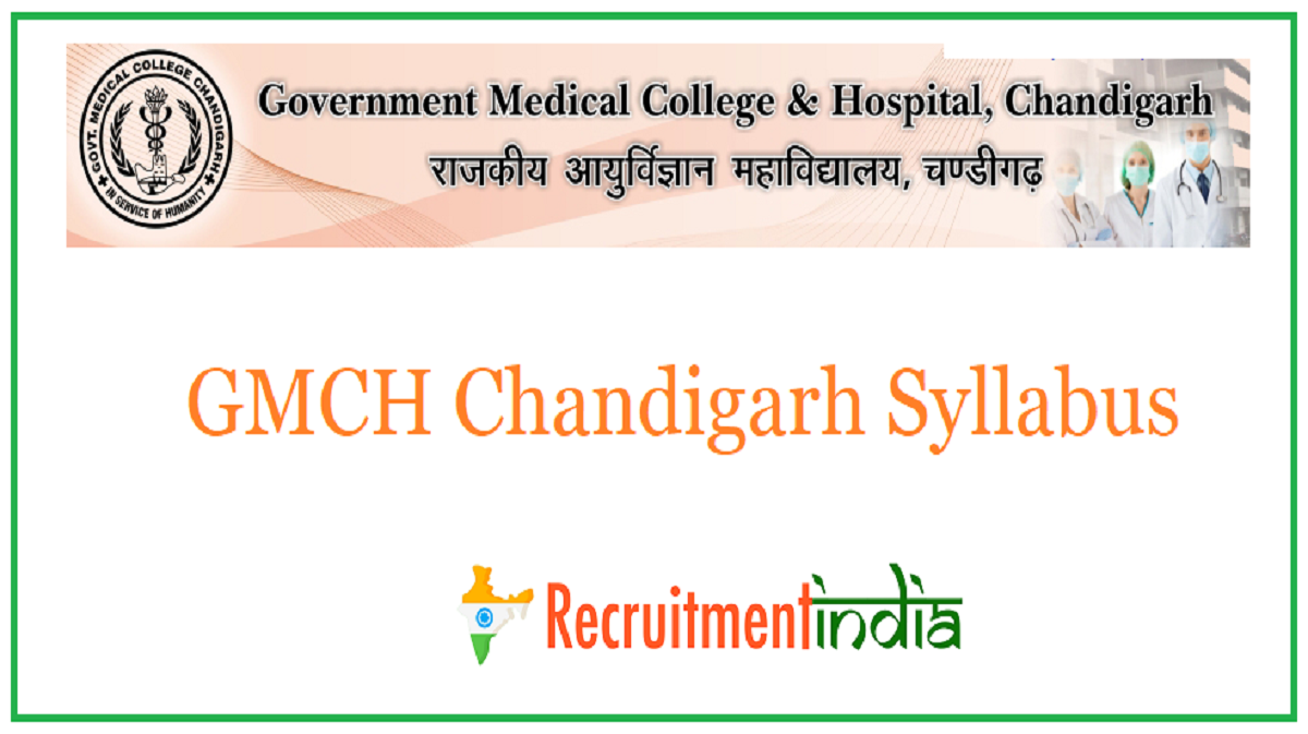 GMCH Chandigarh Syllabus