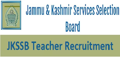 JKSSB Teacher Recruitment