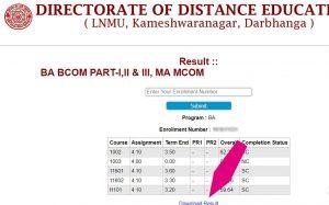 DDE LNMU Results