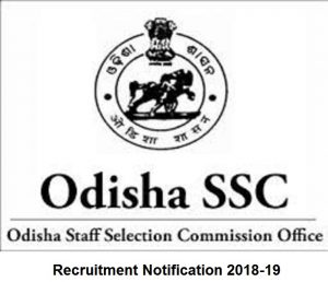 OSSC SI Recruitment 2018