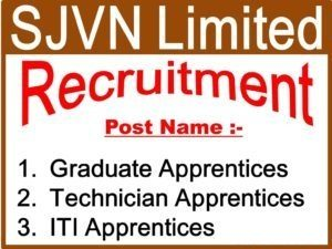 SJVN Apprentice Recruitment