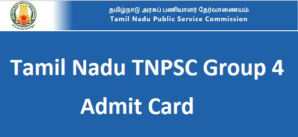 TNPSC Group 4 Admit Card
