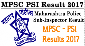MPSC SI Mains Results