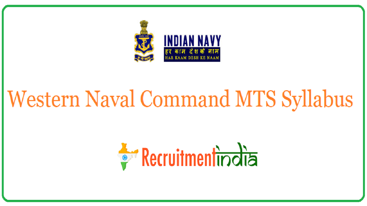 Western Naval Command MTS Syllabus