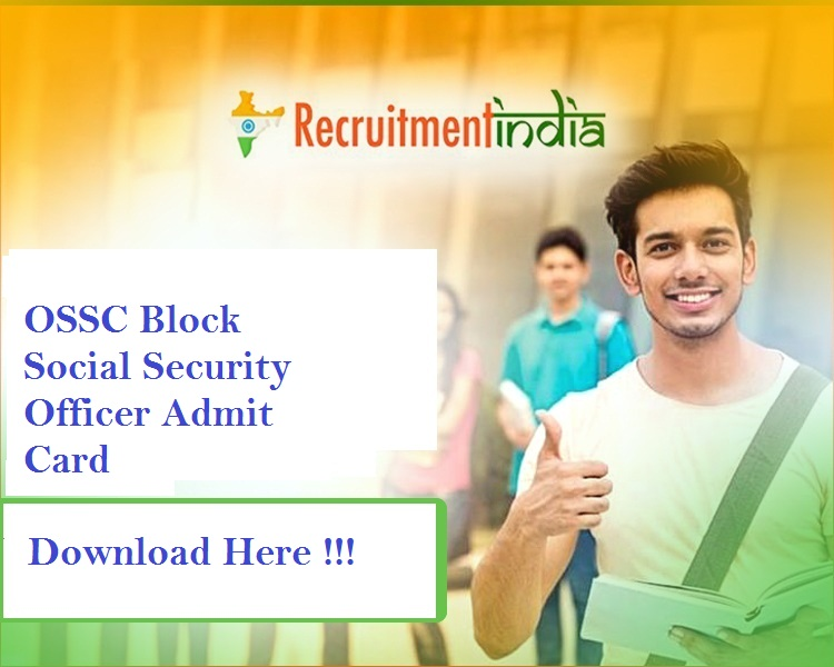 OSSC Block Social Security Officer Admit Card 2019