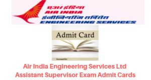 AIESL Assistant Supervisor Admit Card