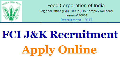 FCI JK Watchman Recruitment
