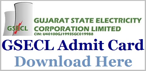 GSECL Engineer Admit Card