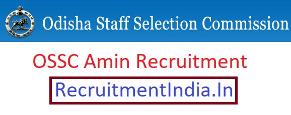 OSSC Amin Recruitment 2019 || OSSC Odisha RI, ARI, Amin Posts