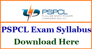 PSPCL Junior Engineer Syllabus