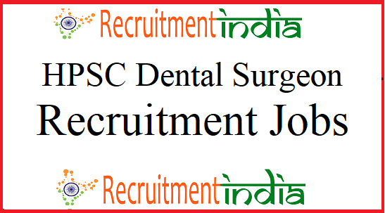 HPSC Dental Surgeon Recruitment