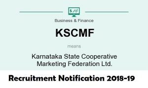 KSCMF Recruitment 2018