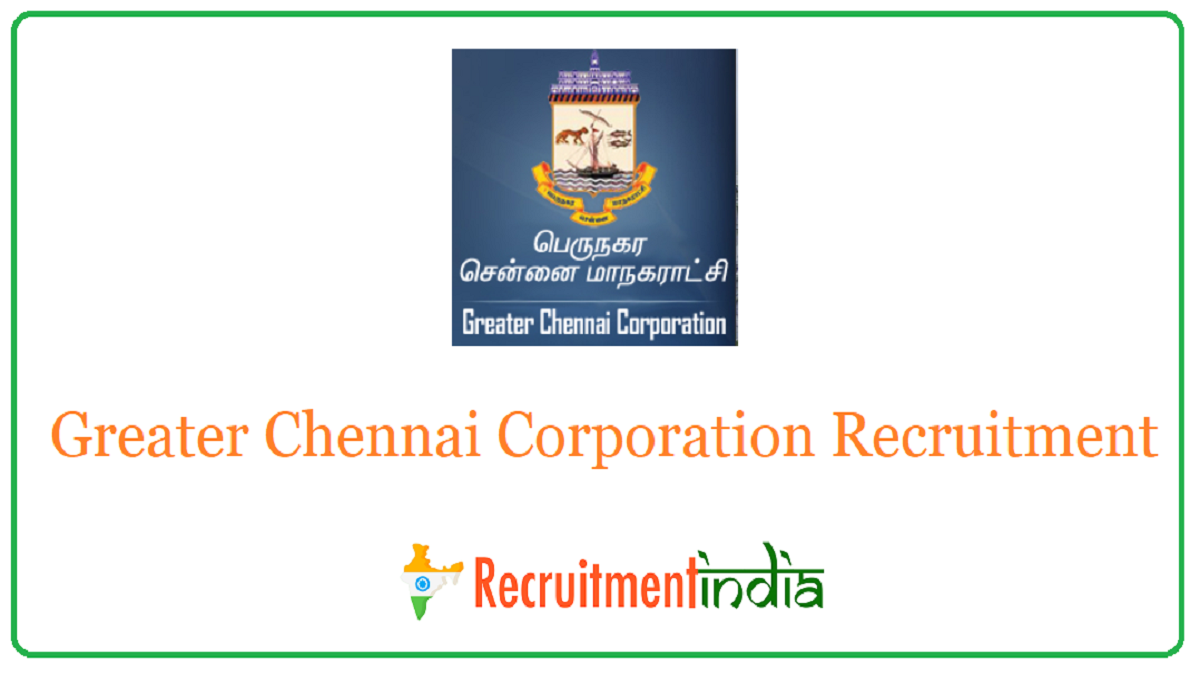 Greater Chennai Corporation Recruitment