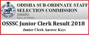 OSSSC Junior Clerk Results
