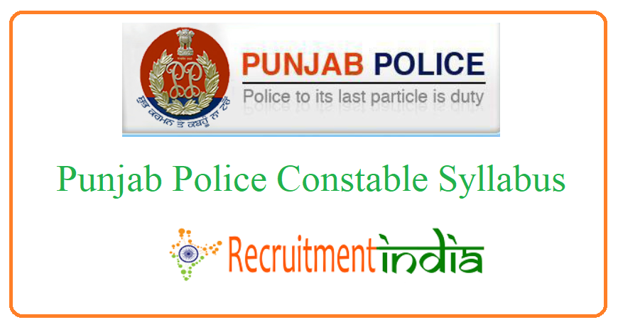 Punjab Police Constable Syllabus