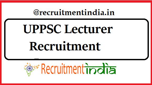 UPPSC Lecturer Recruitment