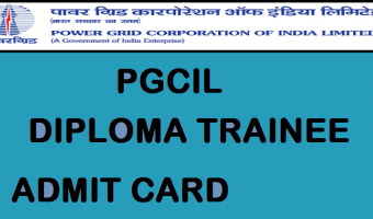PGCIL Diploma Trainee Admit Card 2018 | Check WR2 Diploma Trainee & JOT Hall Ticket, Exam Dates