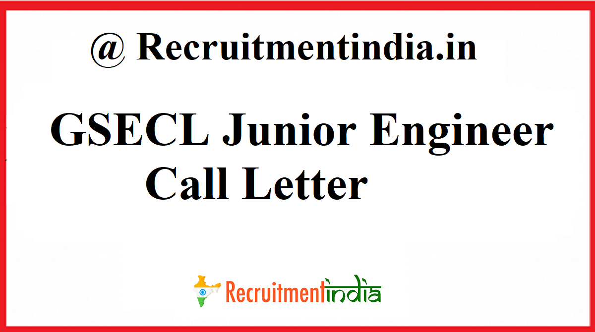 GSECL Junior Engineer Call Letter