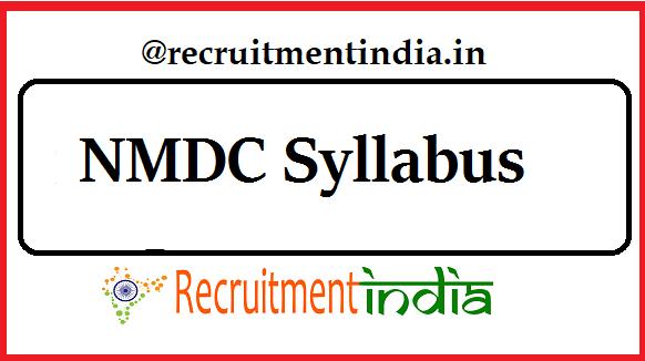 NMDC Syllabus