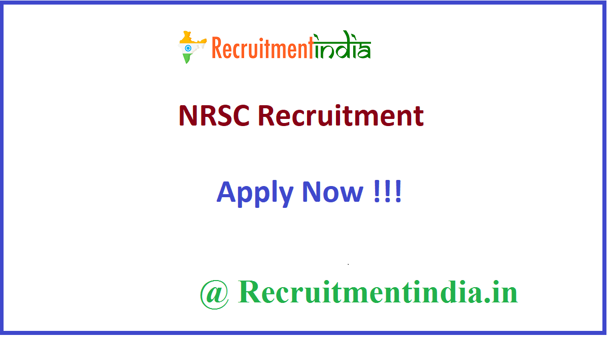 NRSC Recruitment