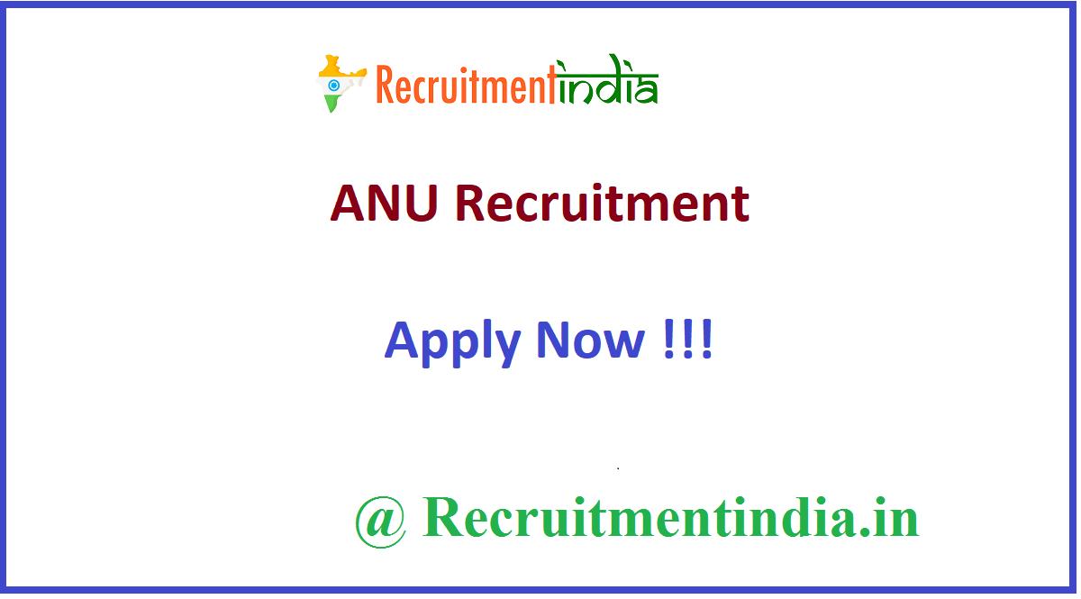 ANU Recruitment
