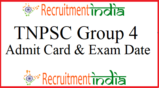 TNPSC Group 4 Admit Card