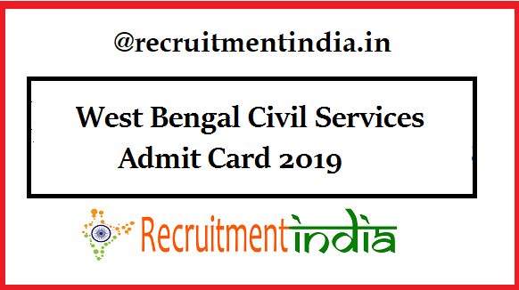 West Bengal Civil Services Admit Card